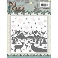 ADEMB10010 - Cut and Emboss Folder - Amy Design - Christmas Wishes