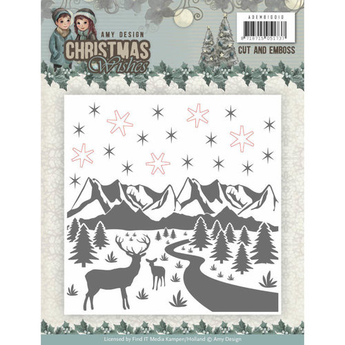 Amy Design ADEMB10010 - Cut and Emboss Folder - Amy Design - Christmas Wishes