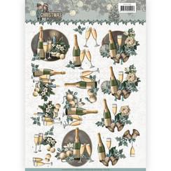 CD11148 - 10 stuks knipvellen - Amy Design - Christmas wishes - Happy New Year