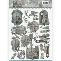 CD11149 - 10 stuks knipvellen - Amy Design - Christmas wishes - 12 O'Clock