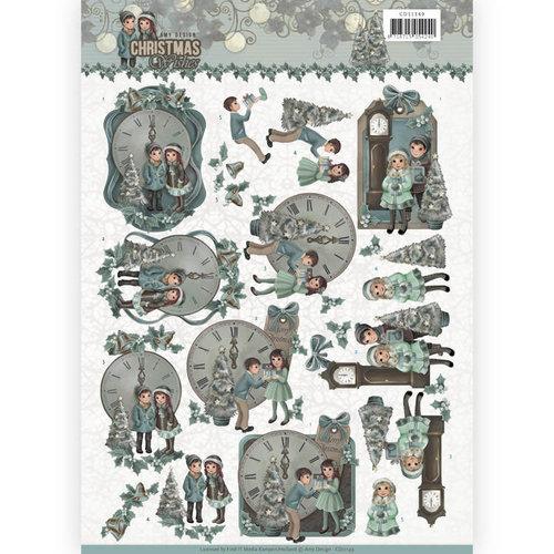 Amy Design CD11149 - 10 stuks knipvellen - Amy Design - Christmas wishes - 12 O'Clock