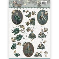 CD11150 - 10 stuks knipvellen - Amy Design - Christmas wishes - Well Dressed