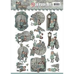 SB10292 - 3D Uitdrukvel - Amy Design - Christmas Wishes - 12 O'Clock