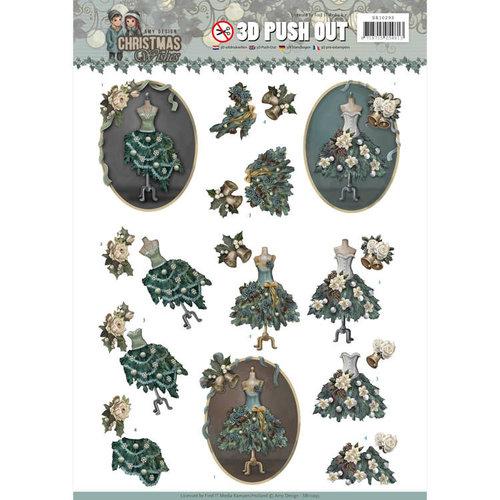 Amy Design SB10293 - 3D Uitdrukvel - Amy Design - Christmas Wishes - Well Dressed