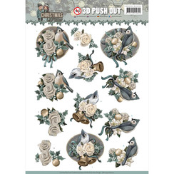 SB10294-HJ16201 - 3D Uitdrukvel - Amy Design - Christmas Wishes - Birds and Bells