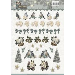 CD11197 - 10 stuks knipvellen - Amy Design - Christmas wishes - Mini