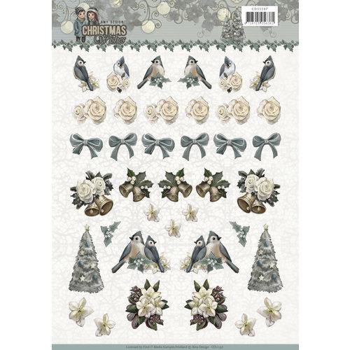 Amy Design CD11197 - 10 stuks knipvellen - Amy Design - Christmas wishes - Mini
