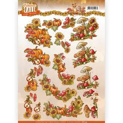CD11154 - 10 stuks knipvellen - Yvonne Creations - Fabulous Fall - Fall Bouquets