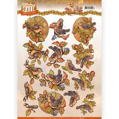 CD11156 - 10 stuks knipvellen - Yvonne Creations - Fabulous Fall - Fall Birds