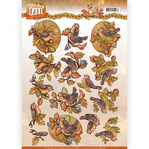 Yvonne Creations CD11156 - 10 stuks knipvellen - Yvonne Creations - Fabulous Fall - Fall Birds