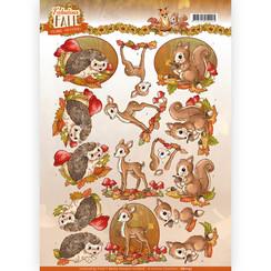 CD11157 - 10 stuks knipvellen - Yvonne Creations - Fabulous Fall - Fabulous Animals