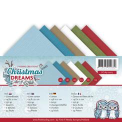 YC-A5-10015 - Linnenpakket - A5 - Yvonne Creations - Christmas Dreams