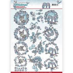 CD11135 - 10 stuks knipvellen - Yvonne Creations - Christmas Dreams - Christmas Animals