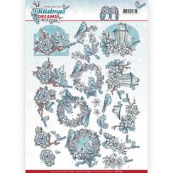CD11134 - 10 stuks knipvellen - Yvonne Creations - Christmas Dreams - Christmas Birds