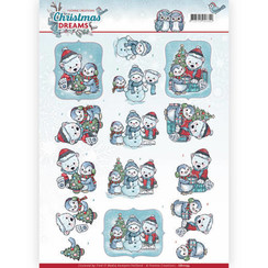 CD11133 - 10 stuks knipvellen - Yvonne Creations - Christmas Dreams - Christmas Bears