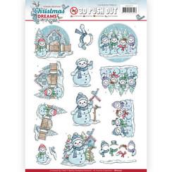 SB10277 - 3D Uitdrukvel - Yvonne Creations - Christmas Dreams - Snowman