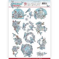 SB10275 - 3D Uitdrukvel - Yvonne Creations - Christmas Dreams - Christmas Birds