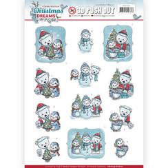 SB10274-HJ16101 - 3D Uitdrukvel - Yvonne Creations - Christmas Dreams - Christmas Bears
