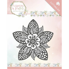 PM10135 - Mal - Precious Marieke - Flowers in Pastels - Reverse Flower