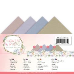 PM-A5-10019 - Linnenpakket - A5 - Precious Marieke - Flowers in Pastels