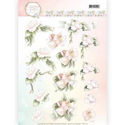CD11142 - 10 stuks knipvellen - Precious Marieke - Flowers in Pastels - Believe in Pink