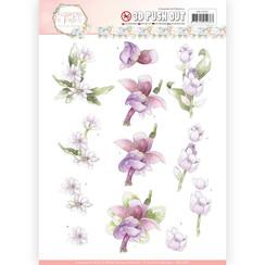 SB10283 - Uitdrukvel - Precious Marieke - Flowers in Pastels - Lilac Mist