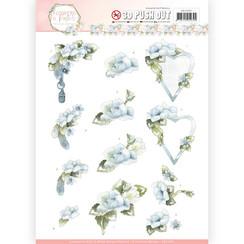 SB10284 - Uitdrukvel - Precious Marieke - Flowers in Pastels - Blue Dreams