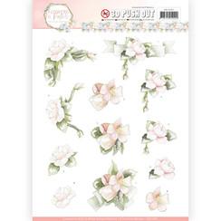 SB10285 - Uitdrukvel - Precious Marieke - Flowers in Pastels - Believe in Pink