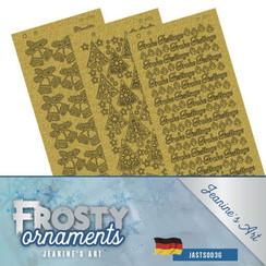 JASTS003G - Stickerset - Jeanines Art- Frosty Ornaments - DUI
