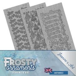 JASTS002Z - Stickerset - Jeanines Art- Frosty Ornaments - ENG