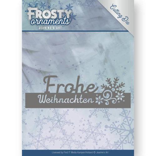 Jeanines Art JAD10046 - Mal - Jeanines Art- Frosty Ornaments - Text Frohe Weihnachten