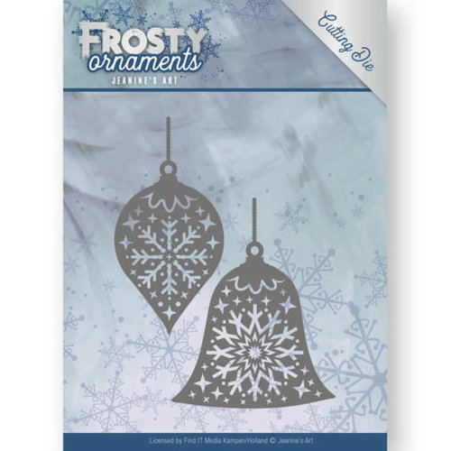 Jeanines Art JAD10043 - Mal - Jeanines Art- Frosty Ornaments - Christmas Baubles