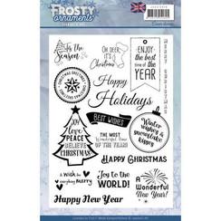 JACS10019 - Textstempel - Jeanines Art- Frosty Ornaments - ENG
