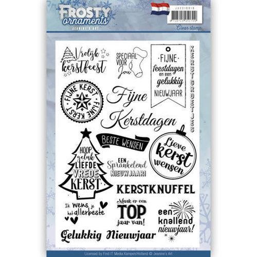 Jeanines Art JACS10018 - Textstempel - Jeanines Art- Frosty Ornaments - NL