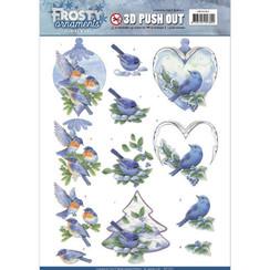 SB10281 - Uitdrukvel - Jeanines Art- Frosty Ornaments - Blue Birds