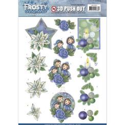 SB10280 - Uitdrukvel - Jeanines Art- Frosty Ornaments - Blue Ornaments