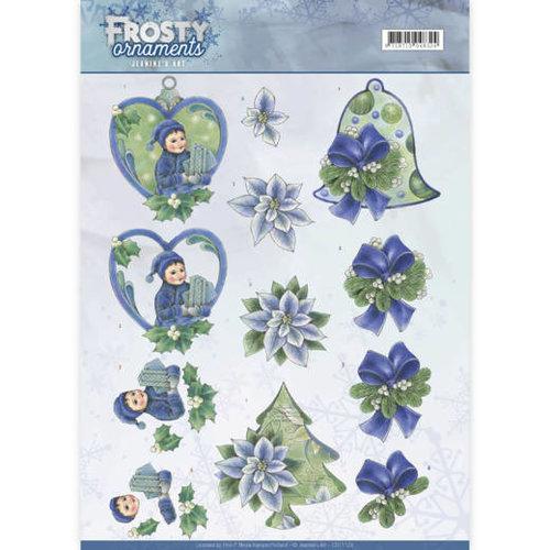 Jeanines Art CD11129 - 10 stuks knipvellen - Jeanines Art- Frosty Ornaments - Green Ornaments