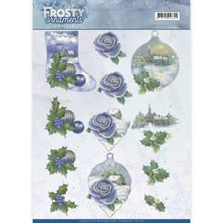 CD11128 - 10 stuks knipvellen - Jeanines Art- Frosty Ornaments - Snowy Landscapes