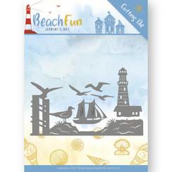 JAD10039 - Mal - Jeanines Art- Beach Fun - Lighthouse Border