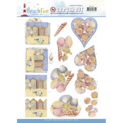 SB10273 - Uitdrukvel - Jeanines Art- Beach Fun - Seashells
