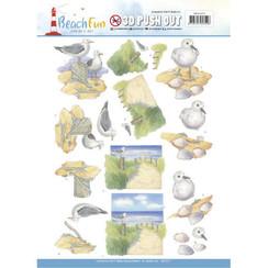 SB10271 - Uitdrukvel - Jeanines Art- Beach Fun - Seagulls