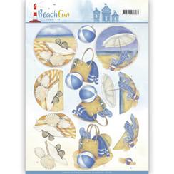 CD11069 - 10 stuks knipvellen - Jeanines Art- Beach Fun - Relax