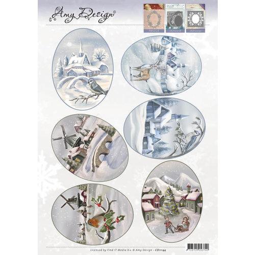 Precious Marieke CD11144 - 3D Topper - Amy Design - Winter Landscapes