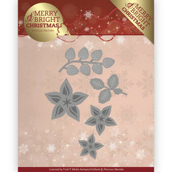 PM10132 - Mal - Precious Marieke - Merry and Bright Christmas - Christmas Florals