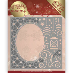 PM10125 - Mal - Precious Marieke - Merry and Bright Christmas - Lantern Frame