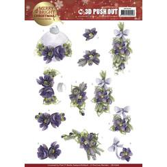SB10269 - Uitdrukvel - Precious Marieke - Merry and Bright Christmas - Bouquets in Purple