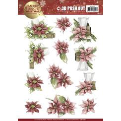 SB10267 - Uitdrukvel - Precious Marieke - Merry and Bright Christmas - Poinsettia in Red