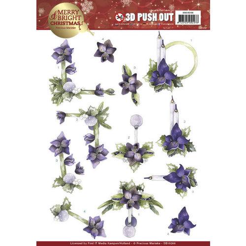 Precious Marieke SB10266 - Uitdrukvel - Precious Marieke - Merry and Bright Christmas - Amaryllis in Purple