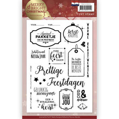 PMCS10034 - Clear Stamp - Precious Marieke - Merry and Bright Christmas - NL