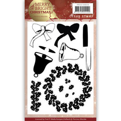 PMCS10033 - Clear Stamp - Precious Marieke - Merry and Bright Christmas - Wreath